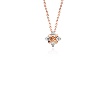 Blue nile studio rose petal diamond pendant in 18k rose gold 13 ct blue nile studio rose petal diamond pendant in 18k rose gold 13 ct aloadofball Image collections