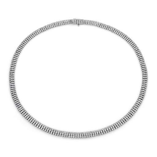 diamond eternity necklace in 18k white gold 10 ct tw