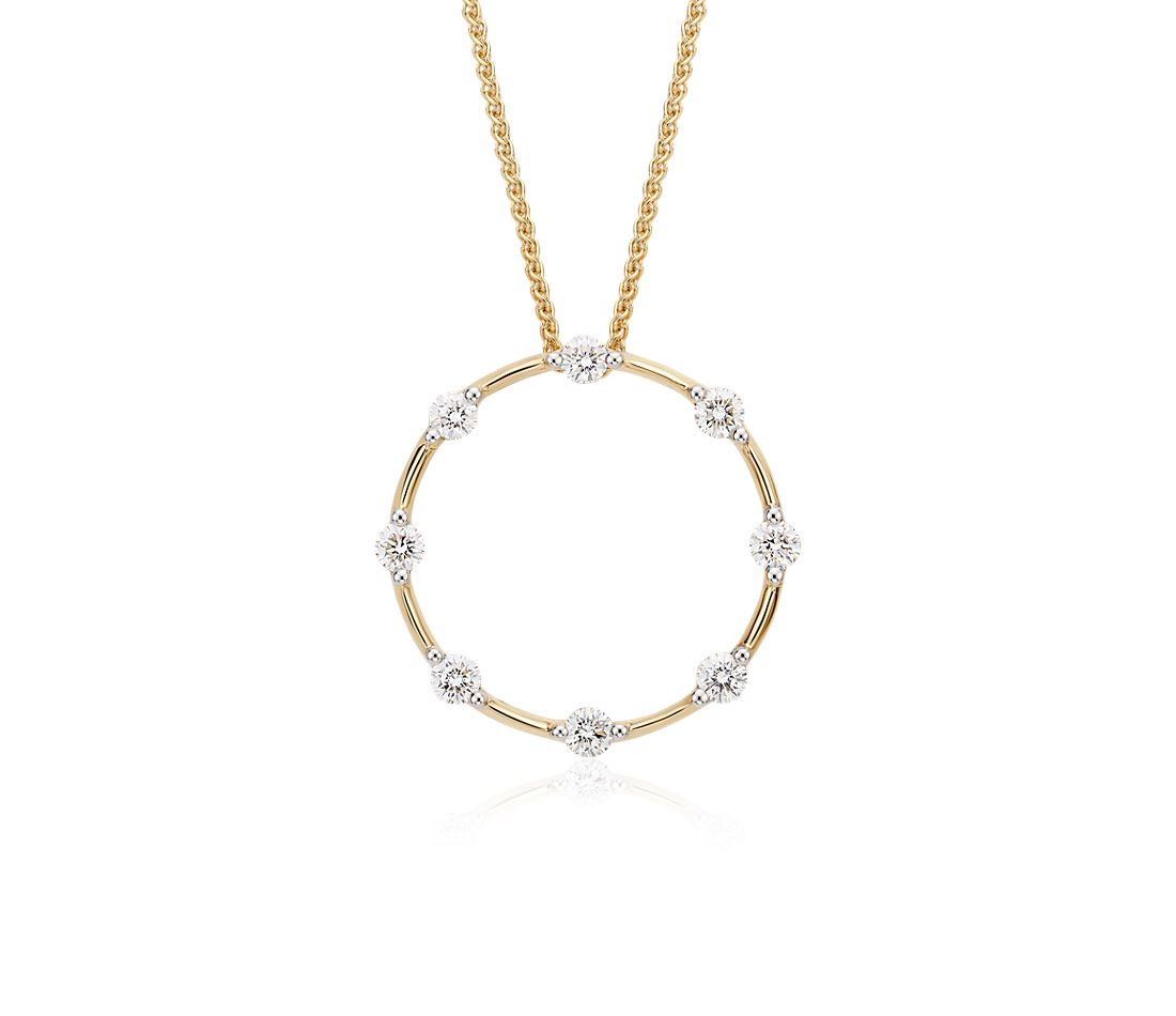 Blue Nile Studio Diamond Circle Pendant in 18k Yellow Gold (1/2 ct. tw.)