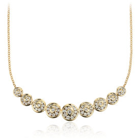 Blue Nile Studio Diamond Spiral Necklace in 18k Yellow Gold (1 ct. tw.)