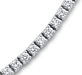 Collier éternité diamant en or blanc 18 carats (5 ct, poids total)