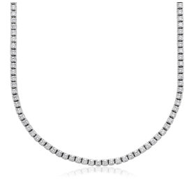 Collar de eternidad de diamantes en oro blanco de 18k (5 qt total)
