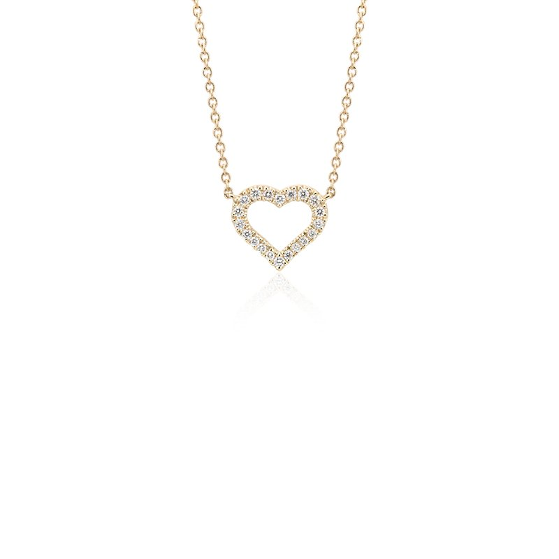 Mini Heart Diamond Pendant in 14k Yellow Gold (1/10 ct. tw.)