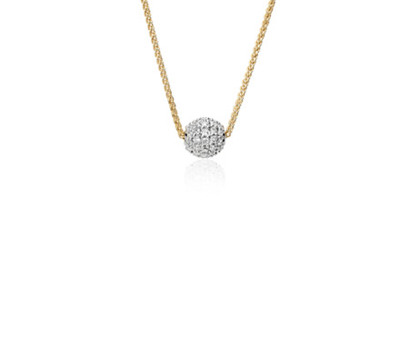 Blue Nile Studio Diamond Pavé Ball Pendant in 18k Yellow Gold (2/5 ct. tw.)