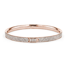 Diamond Pavé Bangle Bracelet in 18k Rose Gold (5.00 ct. tw.)