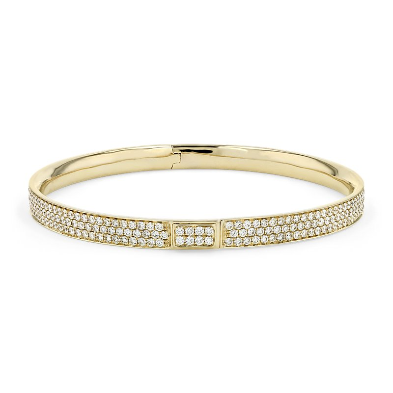 Diamond Pavé Bangle Bracelet in 18k Yellow Gold (5 ct. tw.