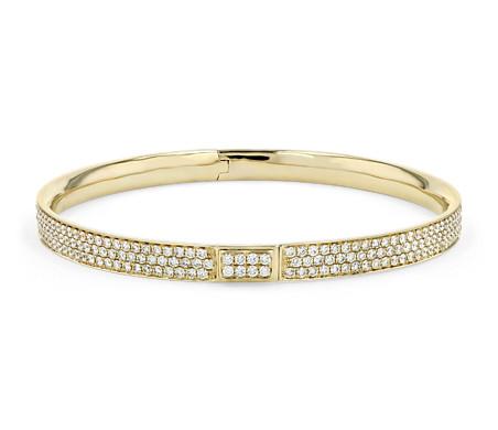 Diamond Pavé Bangle Bracelet in 18k Yellow Gold (5 ct. tw.)