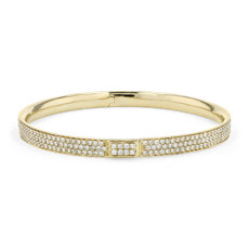 NEW Diamond Pavé Bangle Bracelet in 18k Yellow Gold (5.00 ct. tw.)