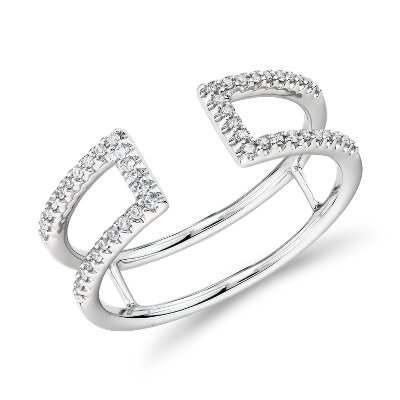 bague or blanc pave diamant
