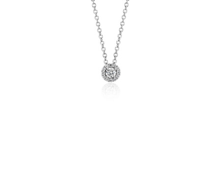 Mini diamond halo pendant in 14k white gold 110 ct tw blue nile mini diamond halo pendant in 14k white gold 110 ct tw aloadofball Gallery