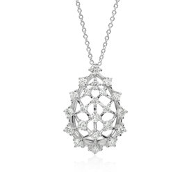 Blue Nile Studio Galaxy Diamond Pendant in 18k White Gold (1.22 ct. tw.)