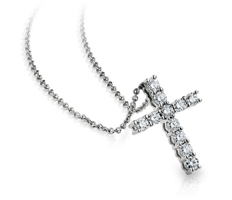 Diamond cross pendant in 18k white gold 12 ct tw blue nile diamond cross pendant in 18k white gold 12 ct tw aloadofball Choice Image