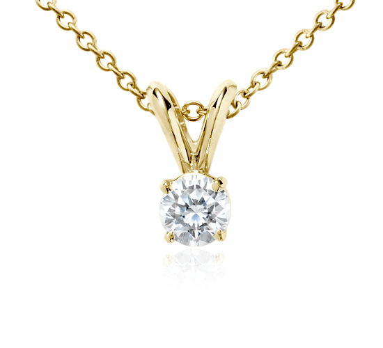 18k Gold Four-Claw Double-Bail Diamond Pendant (1/3 ct. tw.)