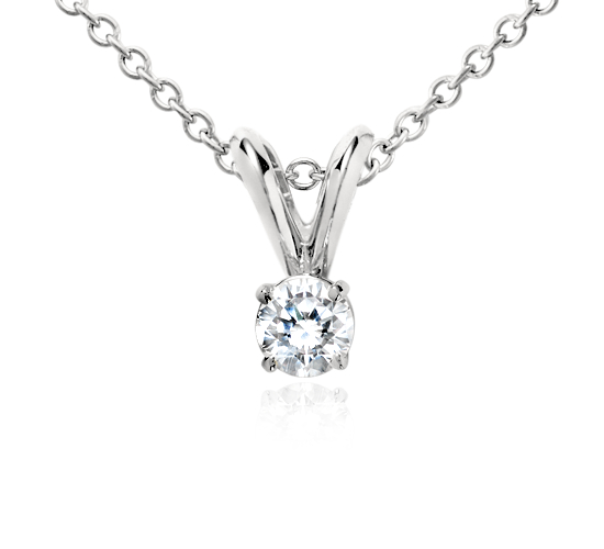 Diamond Solitaire Pendant in Platinum (1/4 ct. tw.)