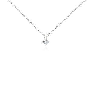 Princess-Cut Diamond Solitaire Pendant in Platinum (1/3 ct. tw.)