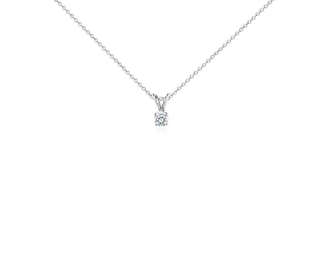Platinum Four-Claw Double-Bail Diamond Pendant (0.50 ct. tw.)