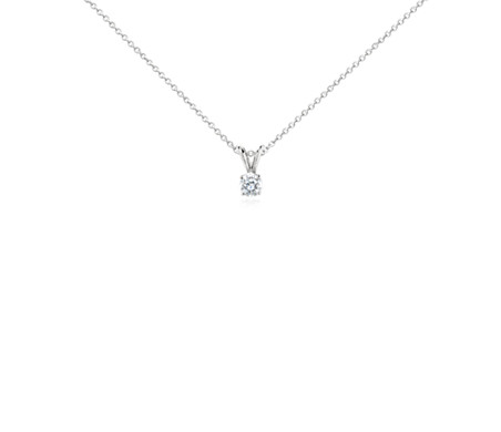 Platinum Four-Claw Double-Bail Diamond Pendant (1/2 ct. tw.)