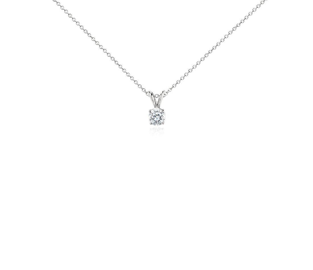 Diamond Solitaire Pendant in Platinum (3/4 ct. tw.)