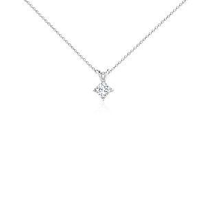 Princess-Cut Diamond Solitaire Pendant in 18k White Gold (3/4 ct. tw.)