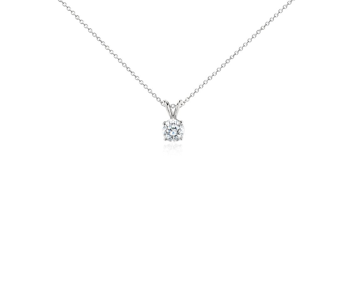 Diamond Solitaire Pendant In Platinum 1 Ct Tw Blue Nile