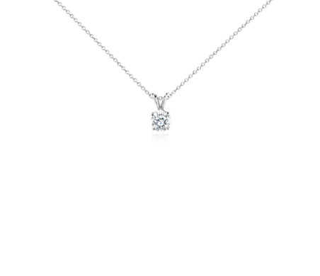 set diamond necklace claw k solitaire in gold en classic