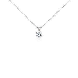 Diamond Solitaire Pendant in Platinum (1 1/2 ct. tw.)