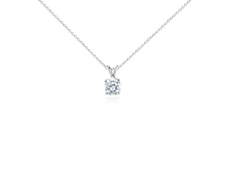 Diamond solitaire pendant in platinum 2 ct tw blue nile diamond solitaire pendant in platinum 2 ct tw aloadofball
