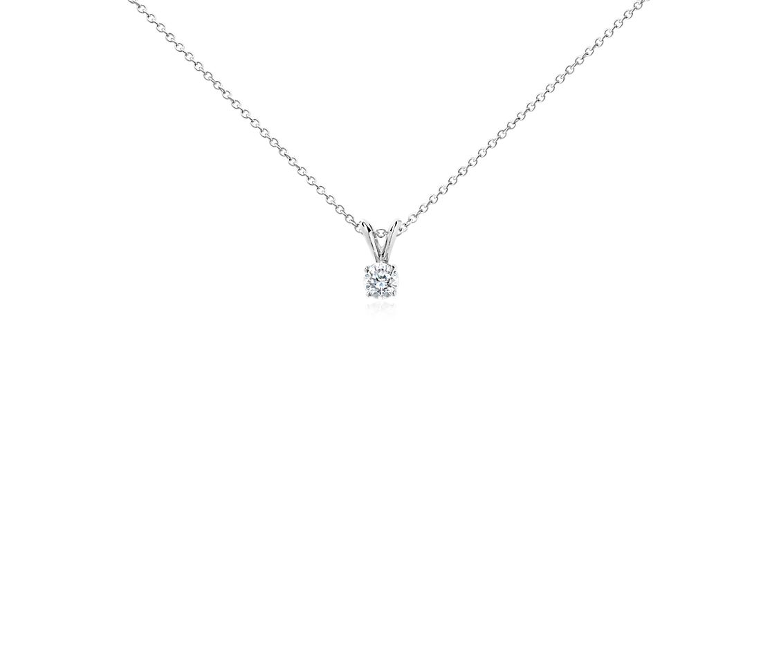 14k White Gold Four-Claw Double-Bail Diamond Pendant (1/2 ct. tw.)