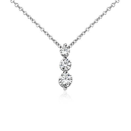 Three stone drop diamond pendant in 18k white gold 12 ct tw three stone drop diamond pendant in 18k white gold 12 ct tw blue nile aloadofball Choice Image