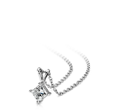 asp product platinum h tw solitaire diamond cut princess pendant vs ct