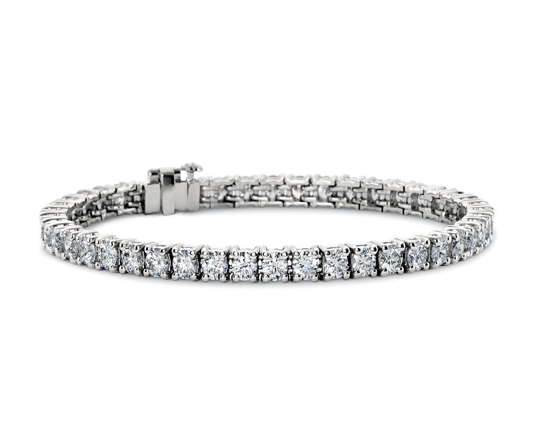 Bracelet tennis diamants de la plus haute qualité en platine (7carats, poids total)