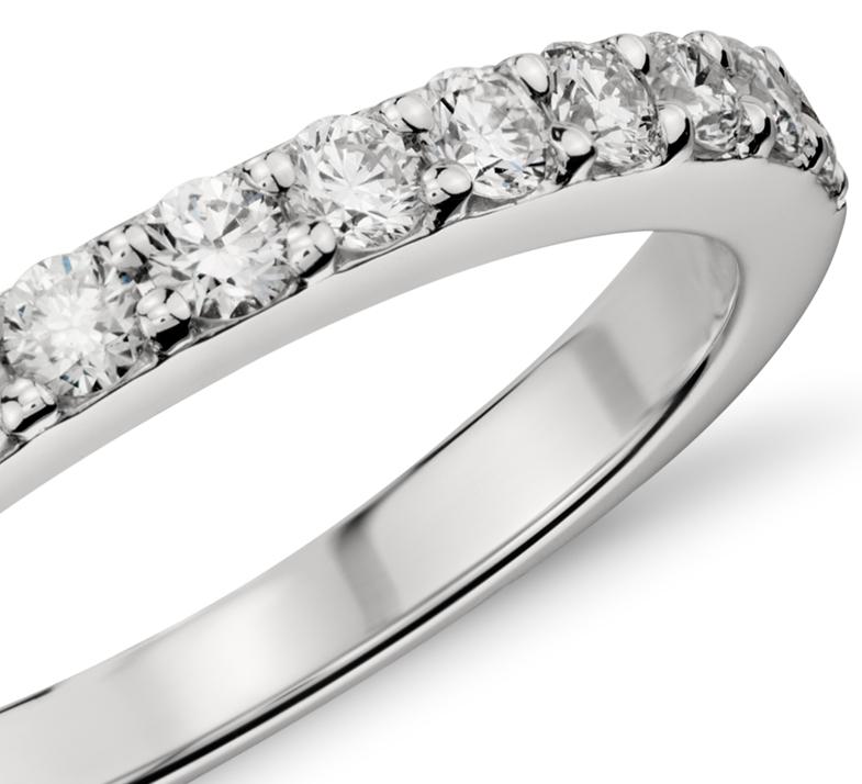 Pavé Diamond Ring in Platinum (1/2 ct. tw.)