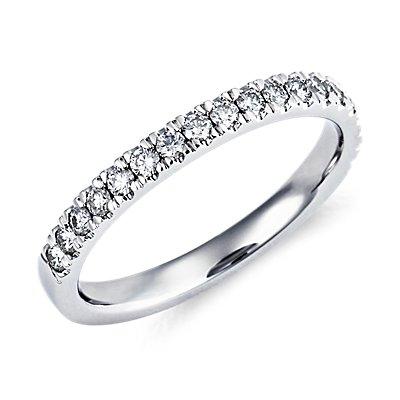 Nouveau Pavé Diamond Ring in Platinum