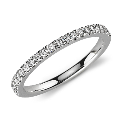 Petite Pav Diamond Ring in Platinum 13 ct tw Blue Nile