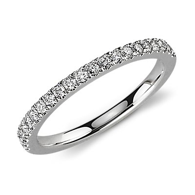 Petite Pavé Diamond Ring in Platinum (0.30 ct. tw.)