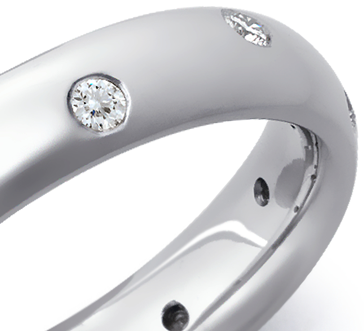 Starlight Diamond Eternity Ring in Platinum