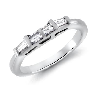 Classic Tapered Baguette Diamond Ring in Platinum 13 ct tw