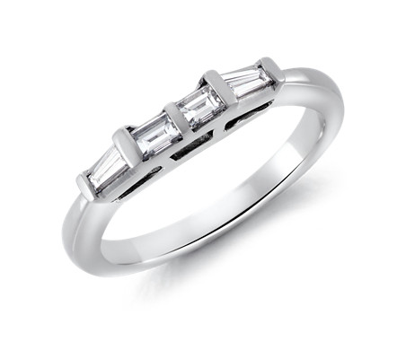 Classic Tapered Baguette Diamond Ring In Platinum (1/3 Ct. Tw.)