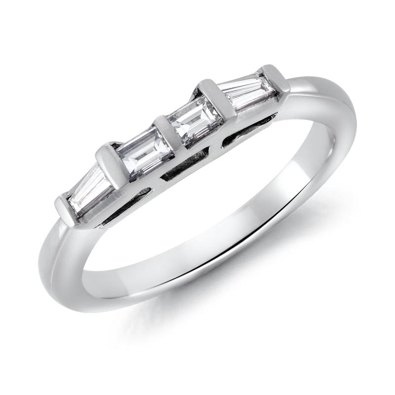 Classic Tapered Baguette Diamond Ring in Platinum (1/3 ct. tw.)