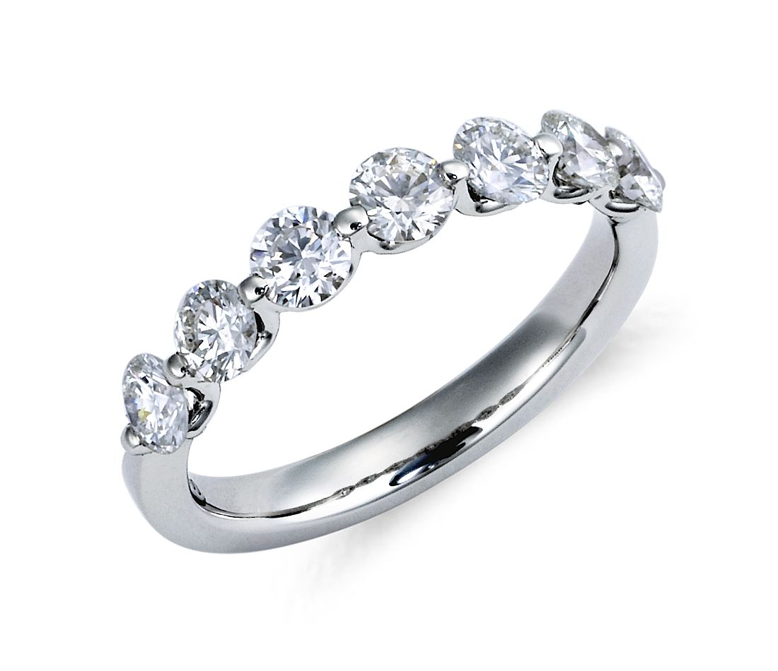 Classic Floating Diamond Ring in Platinum