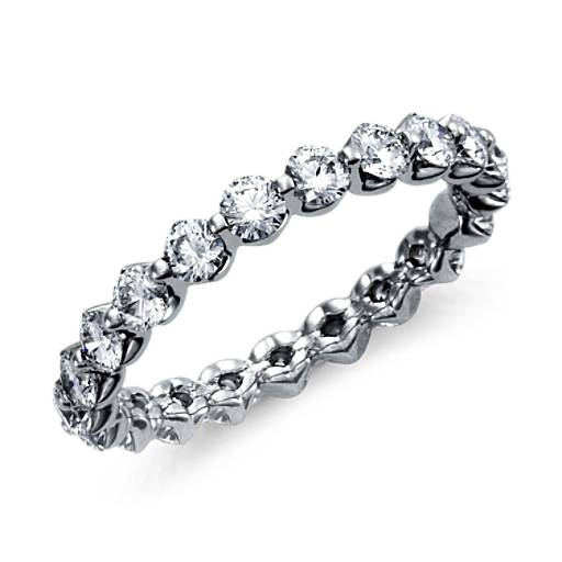 Bague d'éternité diamant flottant en platine (1 1/2carats, poids total)