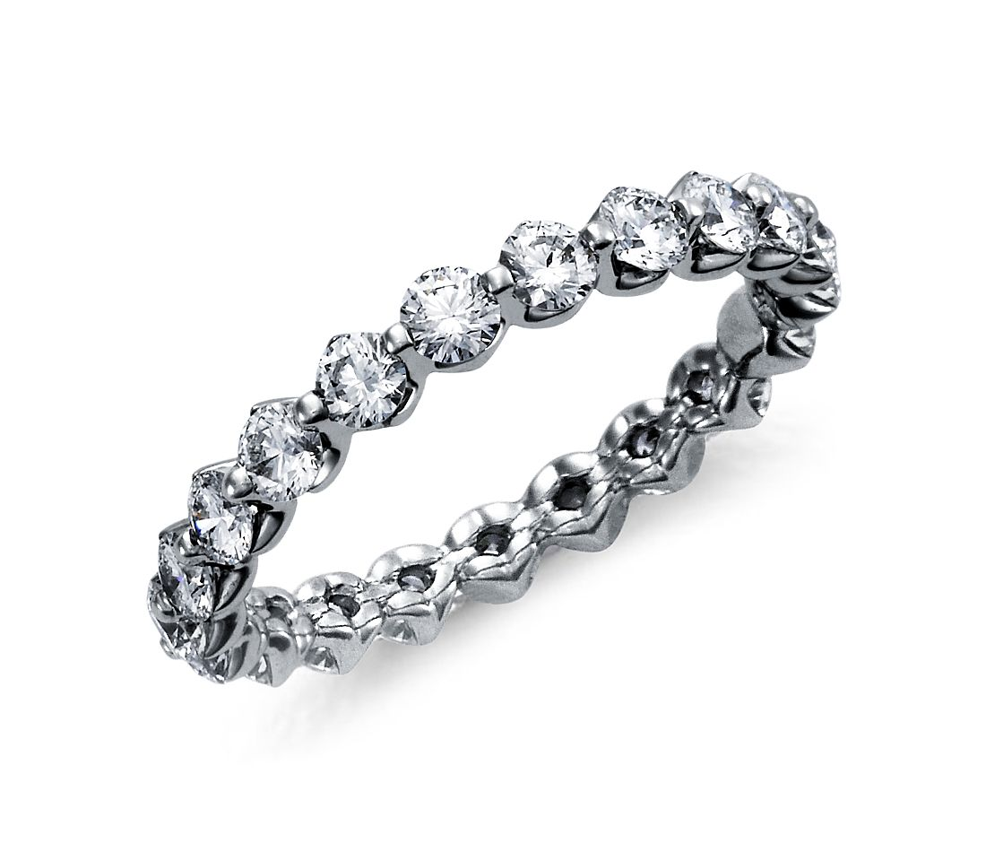 Floating Diamond Eternity Ring In Platinum 1 1 2 Ct Tw