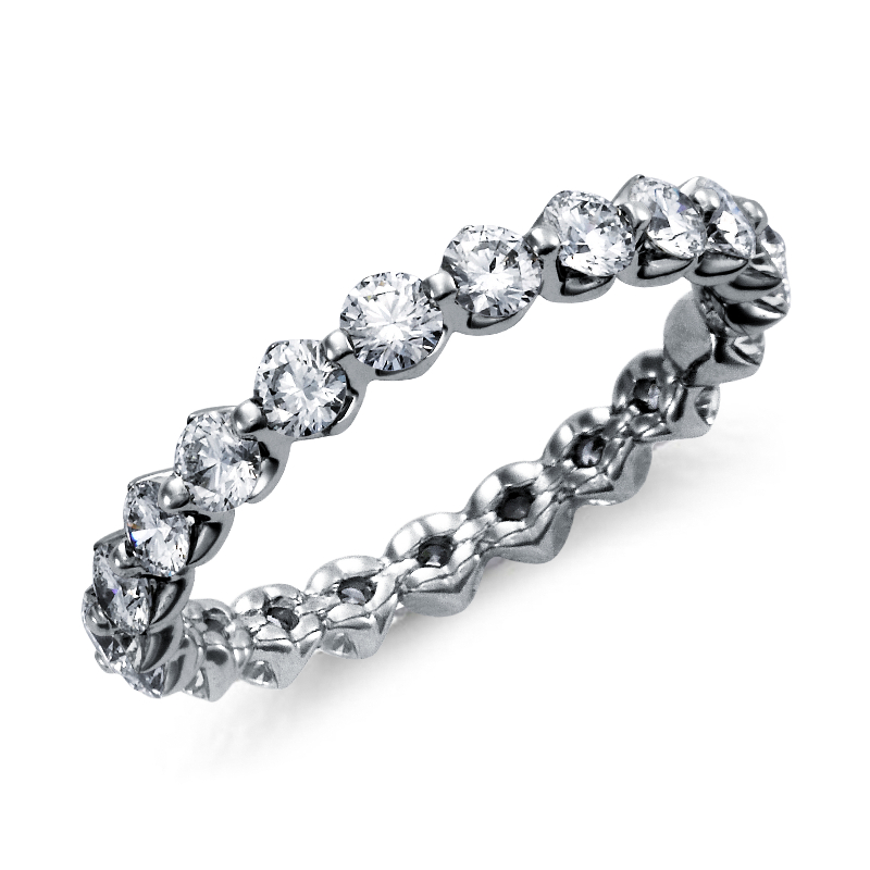 Floating Diamond Eternity Ring in Platinum (1 1/2 ct. tw.)