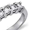 Classic Cushion Cut Seven Stone Diamond Ring in Platinum (1 ct. tw.)