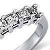 Classic Asscher Cut Seven Stone Diamond Ring in Platinum (1 ct. tw.)