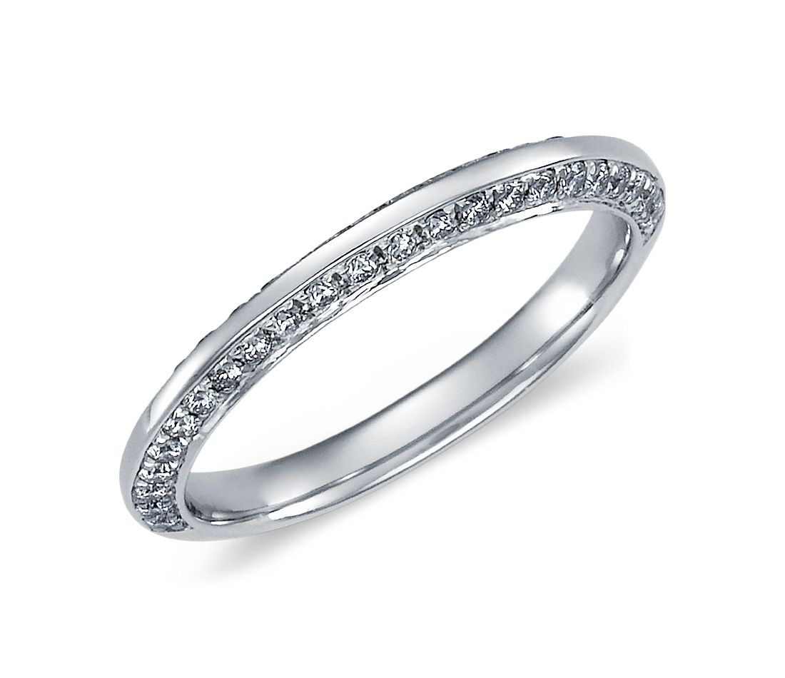 Duet Pavé Diamond Ring in Platinum (1/3 ct. tw.)