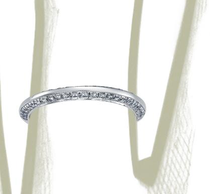 Bague en diamants sertis pavé duo en platine (1/3carat, poids total)