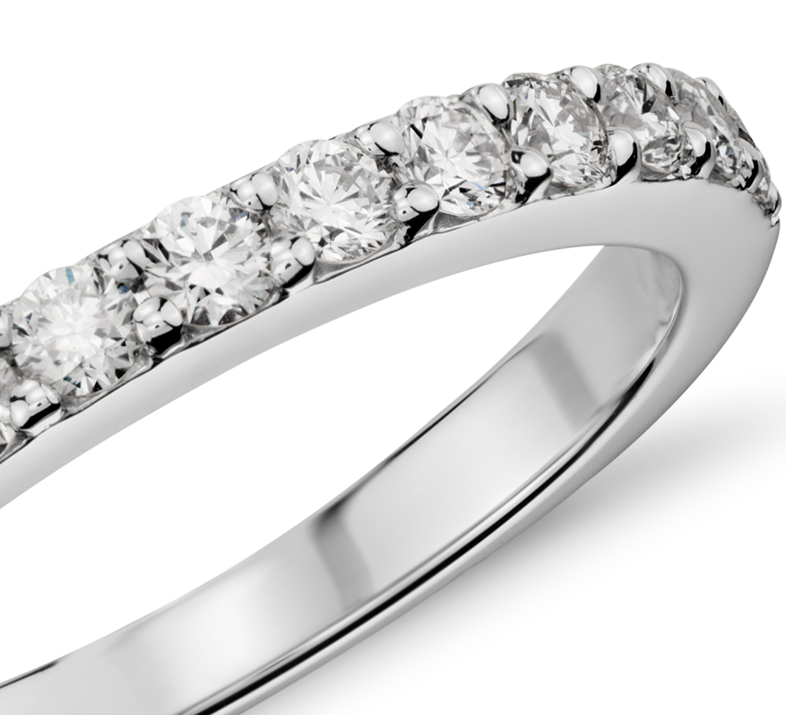 Pavé Diamond Ring in 14k White Gold (1/2 ct. tw.)