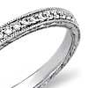 Hand Engraved Micropavé Diamond Ring in 18k White Gold (1/5 ct. tw.)
