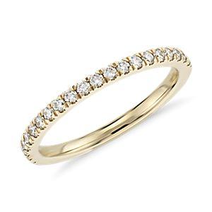 Petite Pavé Diamond Ring in 18k Yellow Gold (1/3 ct. tw.)